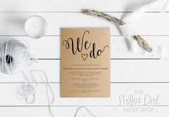 Kraft We Do Wedding Invitation 0202