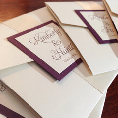 Elegant Monogram Pocketfold Wedding Invitation #0116
