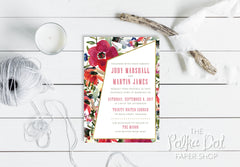 Asymmetrical Garden Wedding Invitation 10245