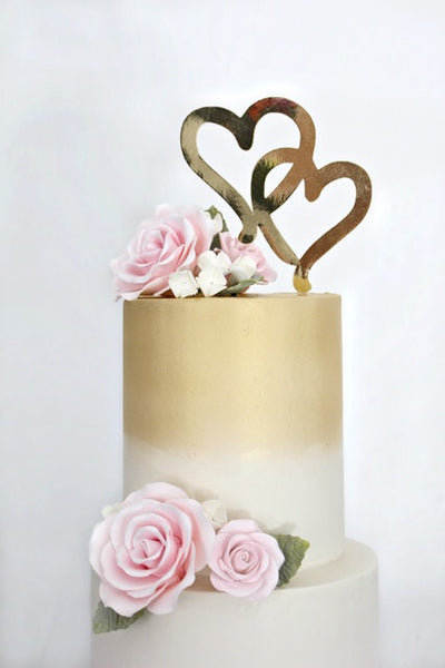 Double Hearts Cake Topper 7222