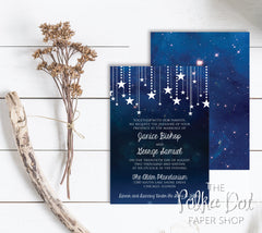 Starry Starry Night Printed Invitation 0219
