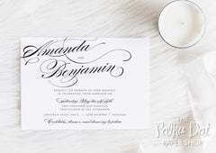 Simple Elegance Wedding Invitation Suite 0102