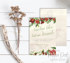 Pomegranate Fall Wedding Invitation 0769