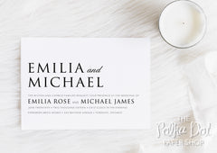 Simple Elegance Wedding Invitation 0105