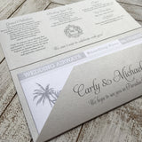 Destination Wedding / Boarding Pass Invitation 04759