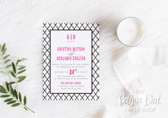 Moroccan Colour Pop Wedding Invitation 7549
