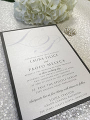 Modern Monogram Wedding Invitation 63893