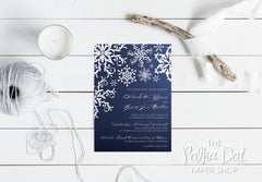 Winter Snowflake Wedding Invitation 0756