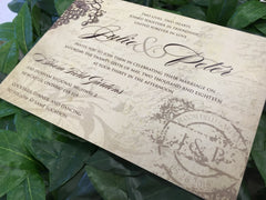 Rustic Winery Wedding Printed Invitation 46274