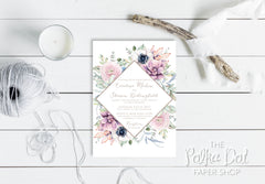 Spring Diamond Wedding Invitation Suite 0505