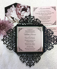 Laser Cut Lotus Fold Wedding Invitation #855249