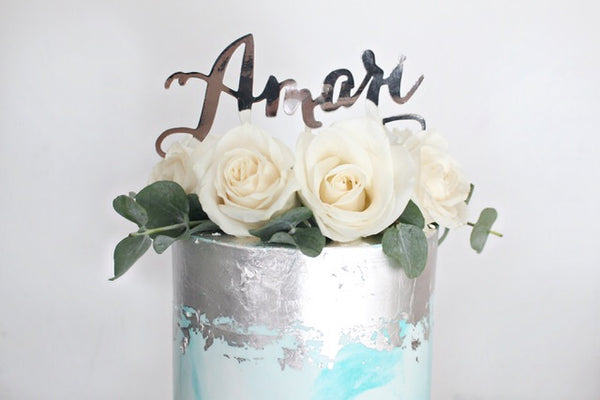 Custom Name Foil Cake Topper 7219