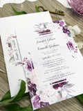 Romantic Purple Flowers Wedding Invitation 67544