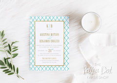 Moroccan Colour Pop Wedding Invitation 7546