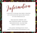 Wildberry Bouquet Floral Belly Band Printed Wedding Invitation 10244