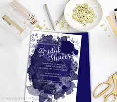 Watercolour Bridal Shower Invitation 0277