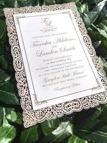 Laser Cut Flat Wedding Invitation Card 5897