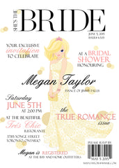 High Fashion Magazine Cover Themed Bridal Shower Invitation 0260