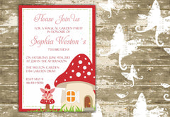 Magic Fairy Garden Birthday or Shower Invitation 0442