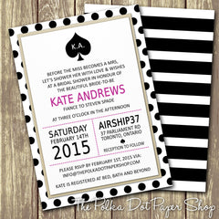 Kate Spade Inspired Bridal Shower or Party Invitation 0271
