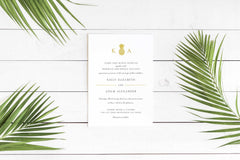 NEW 2019! Pineapple Destination Wedding Invitation 54758