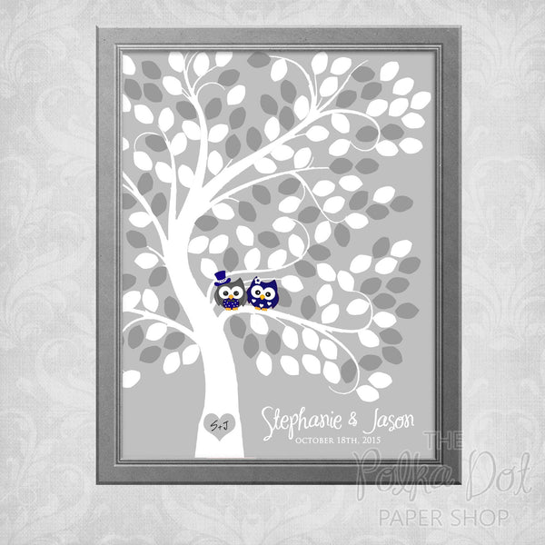 Guest Book Tree Wedding Poster 0786