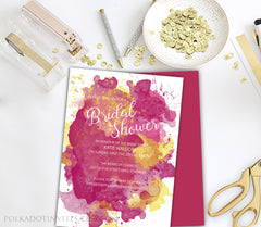 Watercolour Bridal Shower Invitation 0278
