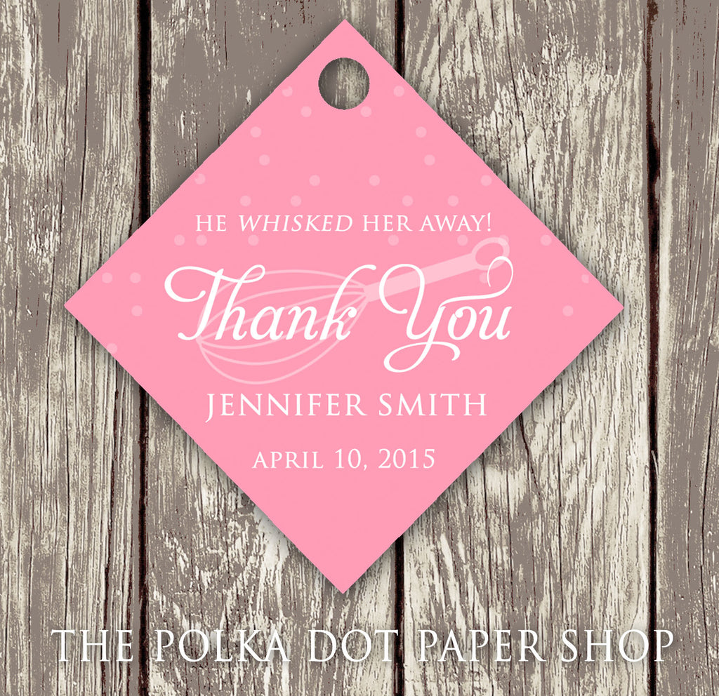 Pack of 50 Cute Kitchen Themed Bridal Shower Thank You Tags with ...