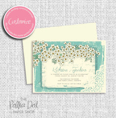 Vintage Blooms Adult Birthday Party Invitation 54794