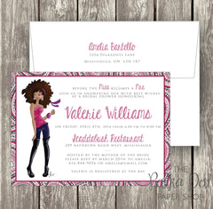 Funky and Sassy Bridal Shower / Birthday Party Invitation 0292
