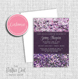 Speckle Glitter Adult Birthday Party Invitation 54811