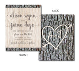 Tree Carved Save the Date 1667
