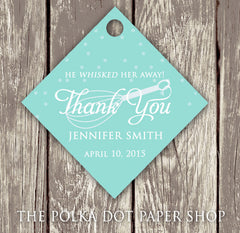 Pack of 50 Cute Kitchen Themed Bridal Shower Thank You Tags with Whisk 0283