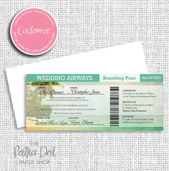 Boarding Pass Destination Wedding Invitation 0313
