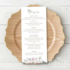 Wedding or Special Event Menu 0687