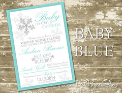 Winter Wonderland Baby Shower Invitation 0433