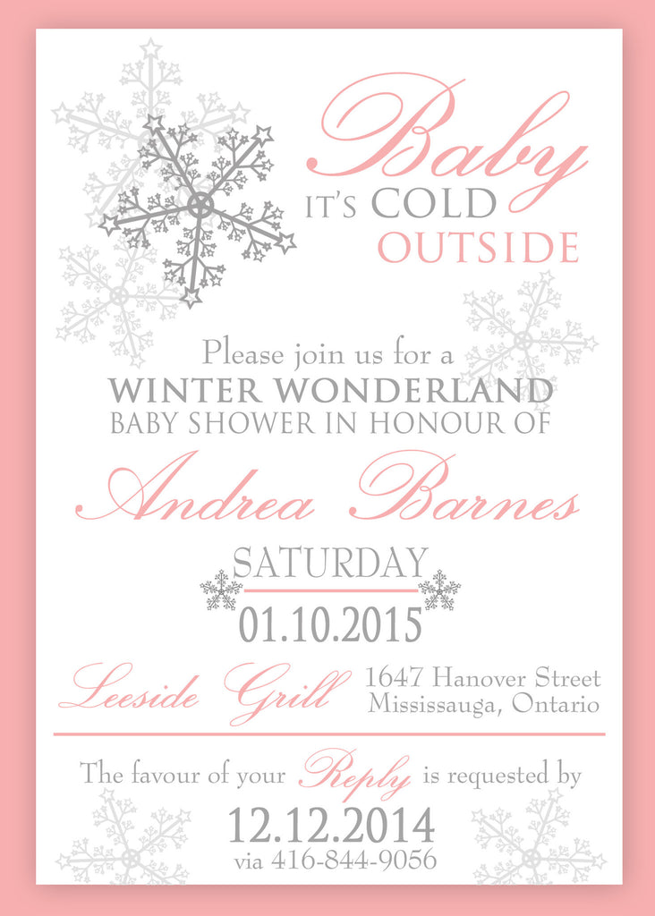 winter wonderland baby shower or baptism invitation 0433 – the, Baby shower invitations