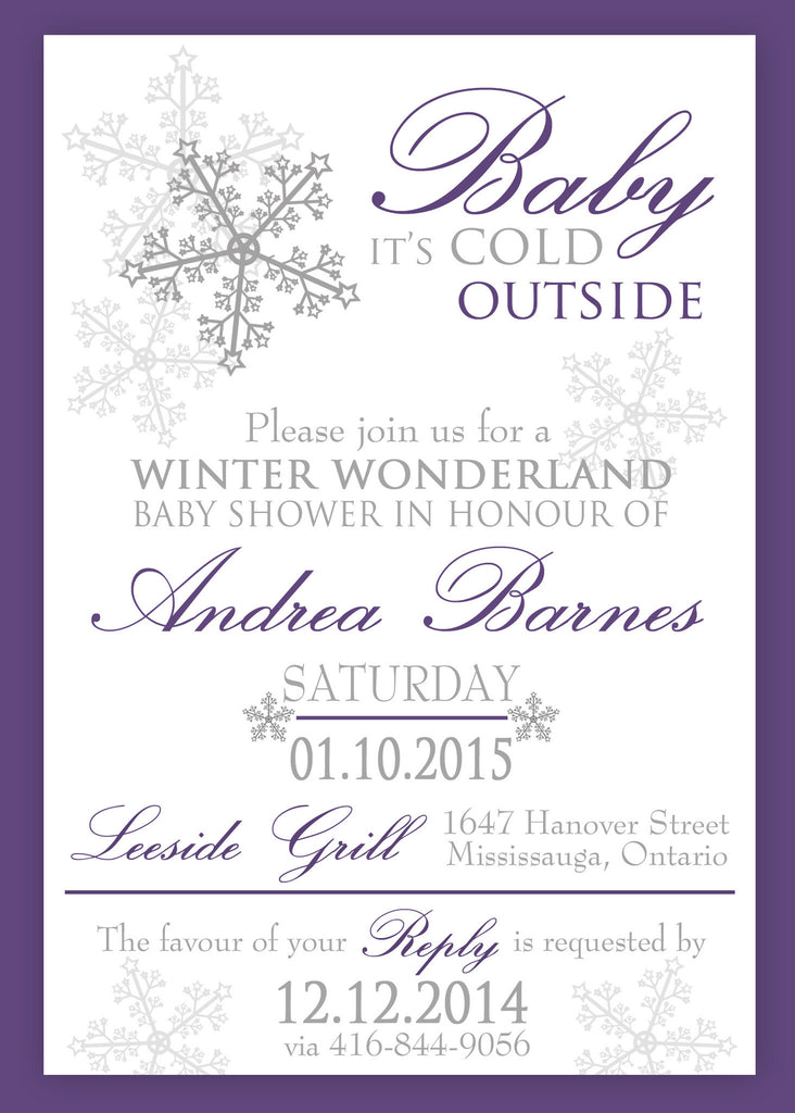 Winter Wonderland Baby Shower or Baptism Invitation 0433 – The Polka ...