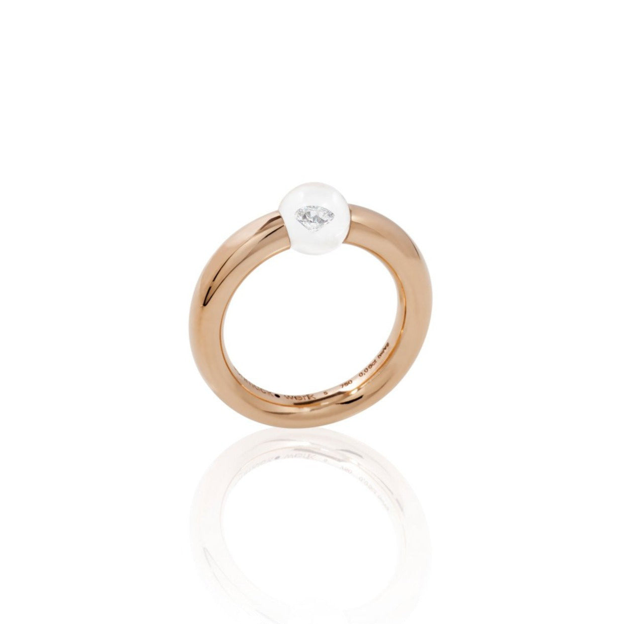 Schmuckwerk-Glasklar-Ring-Rose-Gold-Brillant-Glaskugel-weissDR267RG