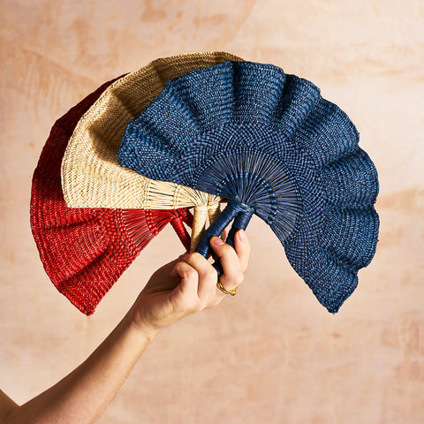 Classic Woven Fans - The Colombia Collective