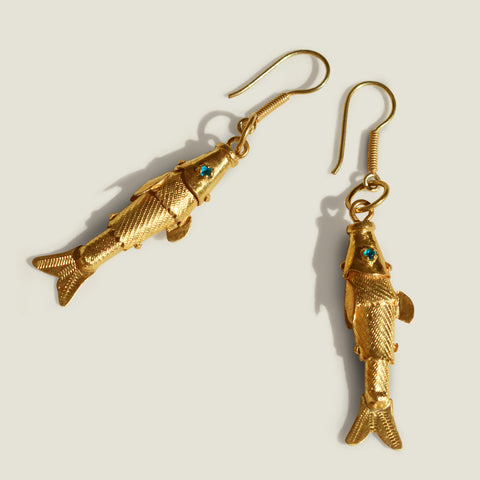 the colombia collective - mompox gold fish earrings