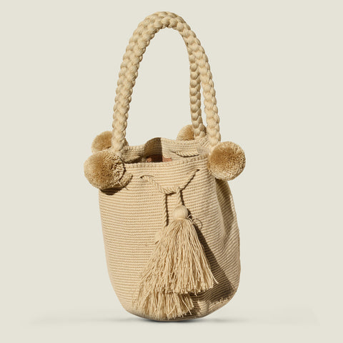 The Colombia Collective - Wayuu Large Pom Pom Bag