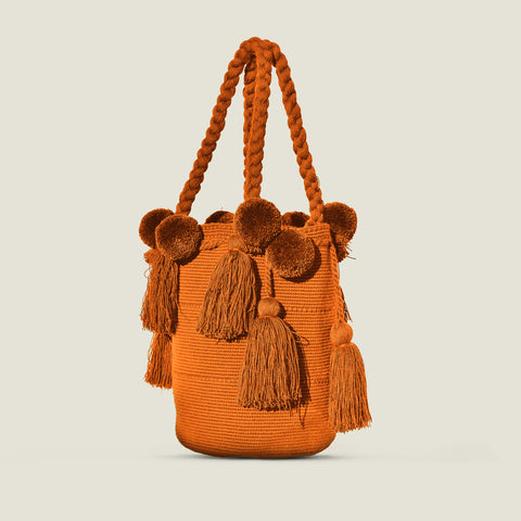 The Colombia Collective - Wayuu Luxury Pom Pom Bag