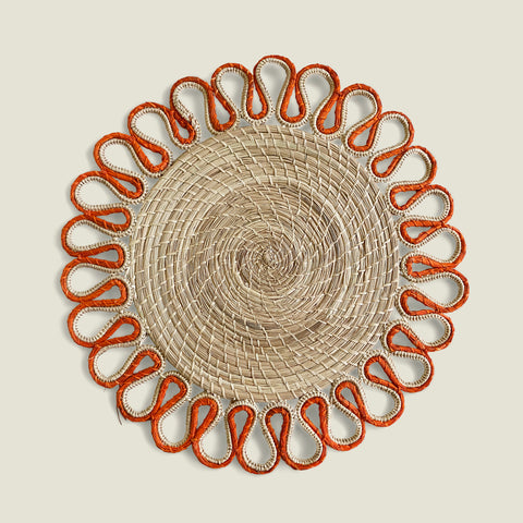 Estrella Woven Placemats (set of 4)   Electric Orange - The Colombia Collective