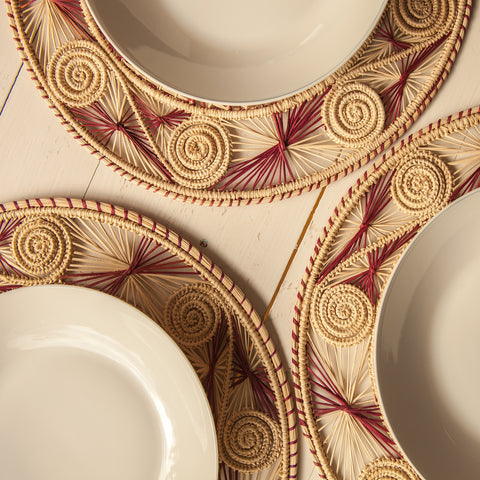 sandra woven placemats - the colombia collective
