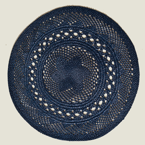 Classic Open Weave Placemats (Set of 4)   Midnight Blue - The Colombia Collective