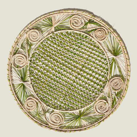 Sandra Woven Placemats (set of 4)   Olive Green - The Colombia Collective