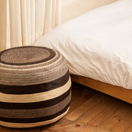 Caña Flecha Woven Pouf - The Colombia Collective