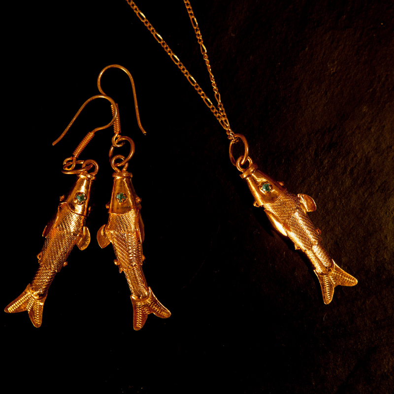 Mompox Gold Vermeil Fish Earrings - The Colombia Collective