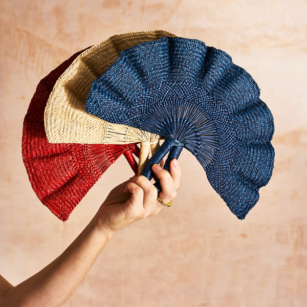 Handwoven Colourful Fan - The Colombia Collective